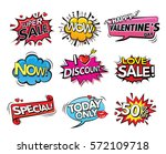 set of cartoon graphic design... | Shutterstock .eps vector #572109718