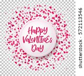 colorful background with heart... | Shutterstock .eps vector #572113546