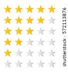 vector collection of rating... | Shutterstock .eps vector #572113876