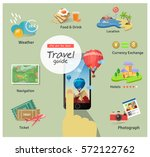 book trips from your smart phone | Shutterstock .eps vector #572122762