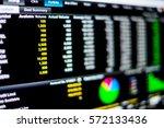 stock market data on led... | Shutterstock . vector #572133436