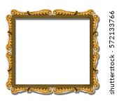 frame gold color with shadow on ... | Shutterstock .eps vector #572133766