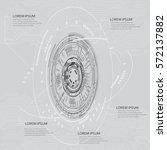 technology communication... | Shutterstock .eps vector #572137882