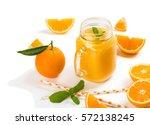 Orange Smoothie And Orange...