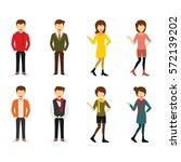 hipster character design vector. | Shutterstock .eps vector #572139202