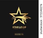gold star logo vector in... | Shutterstock .eps vector #572140276