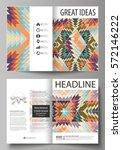 business templates for bi fold... | Shutterstock .eps vector #572146222