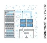 vector high tech internet data...   Shutterstock .eps vector #572149342