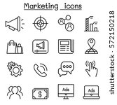marketing icon set in thin line ... | Shutterstock .eps vector #572150218