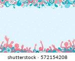 disco party. vector background... | Shutterstock .eps vector #572154208