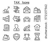 tax icon set in thin line style | Shutterstock .eps vector #572157562