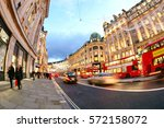 shopping at oxford street ... | Shutterstock . vector #572158072