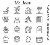 tax icon set in thin line style | Shutterstock .eps vector #572159242