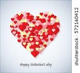 group of heart concept.... | Shutterstock .eps vector #572160412