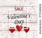 valentine's day sale. banner... | Shutterstock .eps vector #572168626