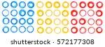 circle set. vector illustration.... | Shutterstock .eps vector #572177308