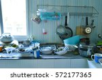 dirty kitchen | Shutterstock . vector #572177365