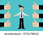 cartoon character  successful... | Shutterstock .eps vector #572178412