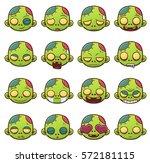 vector illustration of zombie...   Shutterstock .eps vector #572181115
