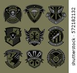 military patch emblem badges | Shutterstock .eps vector #572182132