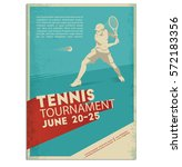 poster flyer in retro style... | Shutterstock .eps vector #572183356