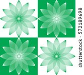 floral geometric pattern made... | Shutterstock . vector #572189698