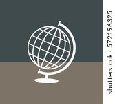 globe vector icon. | Shutterstock .eps vector #572196325
