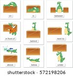 cartoon dragon and box. english ... | Shutterstock .eps vector #572198206