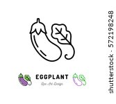 vector eggplant icon vegetables ... | Shutterstock .eps vector #572198248