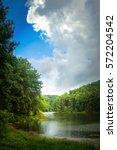 green nature landscape   summer ... | Shutterstock . vector #572204542