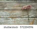 Dry Flower Heather On Wooden...