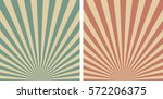 vintage background with rays ... | Shutterstock .eps vector #572206375