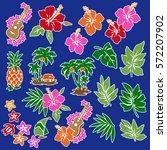hibiscus flower illustration | Shutterstock .eps vector #572207902