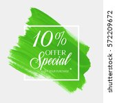sale special offer 10  off sign ... | Shutterstock .eps vector #572209672