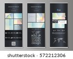 roll up banner stands  abstract ... | Shutterstock .eps vector #572212306