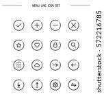 menu flat icon set. collection...