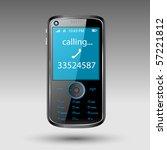 smartphone editable vector file   Shutterstock .eps vector #57221812