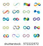 colorful abstract infinity ... | Shutterstock .eps vector #572222572