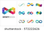 colorful abstract infinity ... | Shutterstock .eps vector #572222626