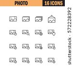photo flat icon set. collection ...