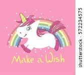 cute little unicorn with...   Shutterstock .eps vector #572234575