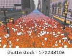 colored illustration of massive ... | Shutterstock .eps vector #572238106