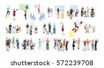 work in office set on white... | Shutterstock .eps vector #572239708