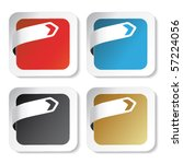 vector stickers with arrow tape | Shutterstock .eps vector #57224056