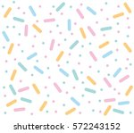 candy pattern on white... | Shutterstock .eps vector #572243152