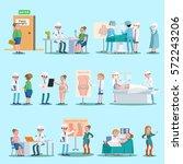 plastic surgery elements set... | Shutterstock .eps vector #572243206