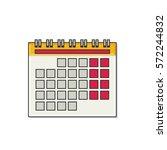 calendar flat icon. vector...   Shutterstock .eps vector #572244832