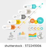 business timeline elements... | Shutterstock .eps vector #572245006