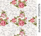 seamless floral pattern with... | Shutterstock .eps vector #572245576
