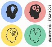 brain vector icons set. black... | Shutterstock .eps vector #572246005